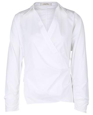 Poplin Power cotton wrap shirt DOROTHEE SCHUMACHER