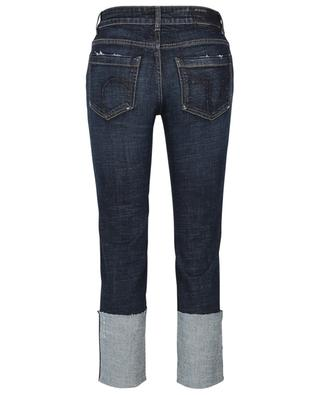 Denim Love straight fit distressed jeans with large turn-ups DOROTHEE SCHUMACHER