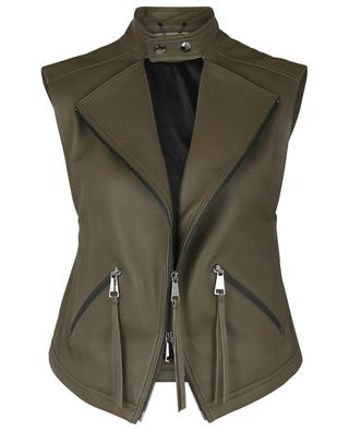 Cool Edge zippered nappa leather vest DOROTHEE SCHUMACHER