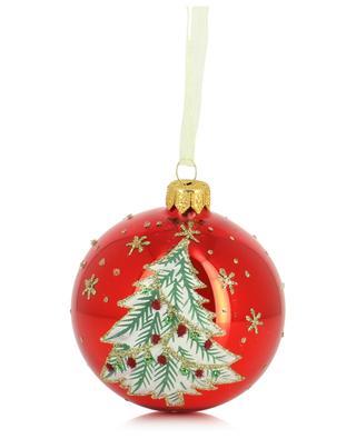 Tannenverzierte Weihnachtskugel aus Glas KAEMINGK