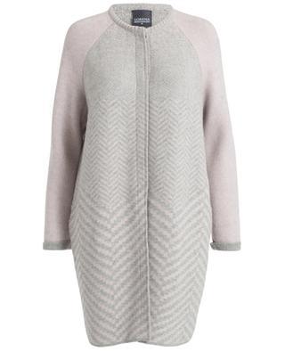 Manteau en laine, alpaca, soie et cachemire LORENA ANTONIAZZI