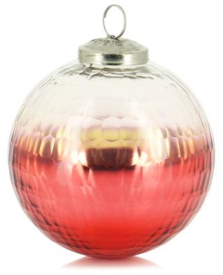 Gold and red glass Christmas bauble KAEMINGK