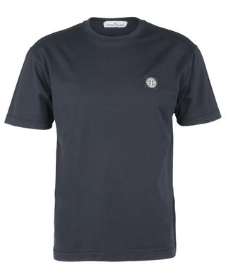 Short-sleeved cotton T-shirt with wind rose chest patch STONE ISLAND