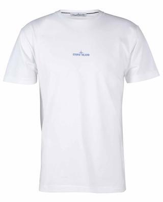 Kurzarm-T-Shirt mit Logo vorne und Rückenmotiv Paint Stroke 2 STONE ISLAND
