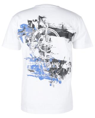 Paint Stroke 2 back pattern and front logo short-sleeved T-shirt STONE ISLAND