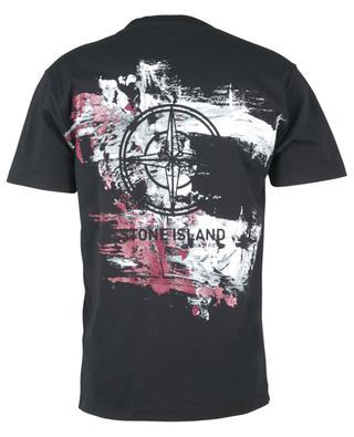 T-shirt à manches courtes imprimé logo devant et motif dos Paint Stroke 2 STONE ISLAND