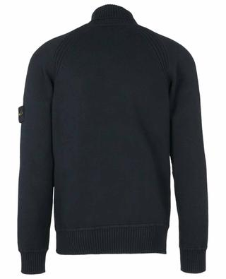 Chunky turtleneck jumper with removable wind rose patch STONE ISLAND