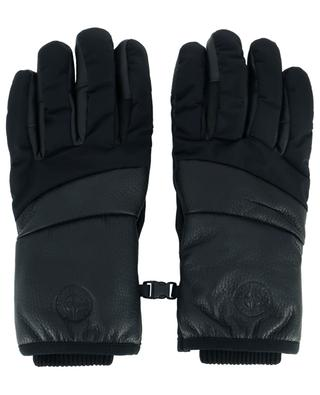 92774 leather and nylon gloves STONE ISLAND