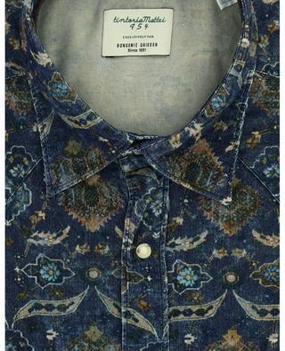 Hemd aus Samt mit Print TINTORIA MATTEI