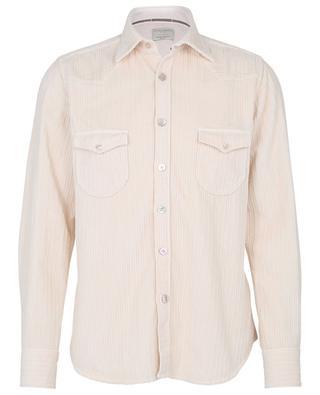Button-up cotton corduroy shirt TINTORIA MATTEI