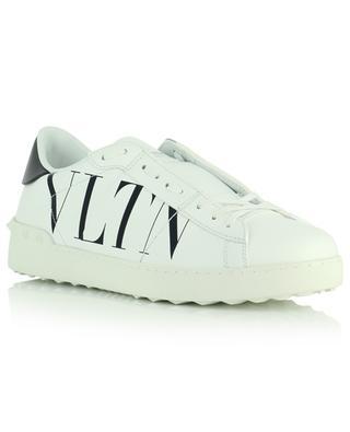 Niedrige Sneakers aus weissem Leder mit VLTN-Print Open VALENTINO
