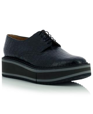 Brook croc effect leather derbies CLERGERIE