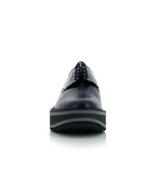 Brook croc effect leather derbies CLERGERIE