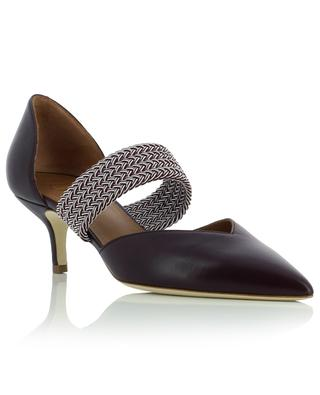 Maisie 45 kitten heel leather and fabric pumps MALONE SOULIERS