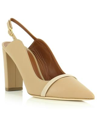 Madelyn 85 block heel pumps in nappa and patent leather MALONE SOULIERS