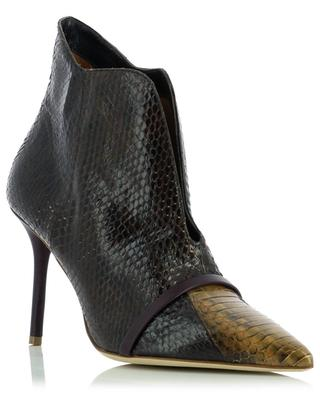 Cora 85 heeled snake and nappa leather ankle boots MALONE SOULIERS