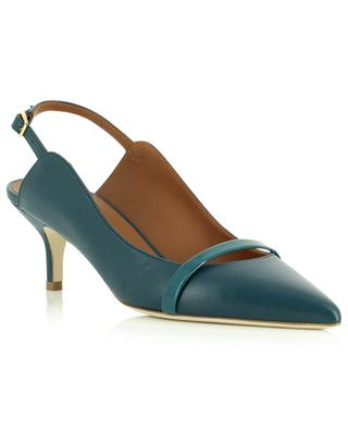 Marion 45 nappa and patent leather slingback pumps MALONE SOULIERS