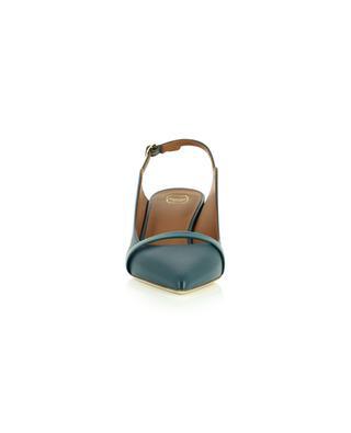 Escarpins à bride arrière en cuir nappa et verni Marion 45 MALONE SOULIERS