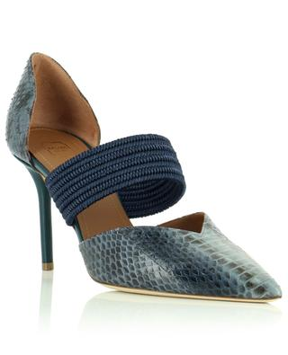 Maisie 85 snake leather and fabric pumps MALONE SOULIERS