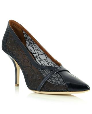 Brook 70 pointy toe mesh and leather pumps MALONE SOULIERS