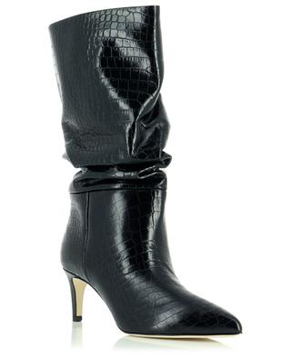 Bottines souples en cuir imprimé croco 60 PARIS TEXAS