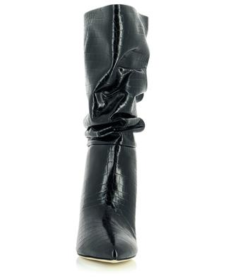 Slouchy croc embossed leather boots 60 PARIS TEXAS