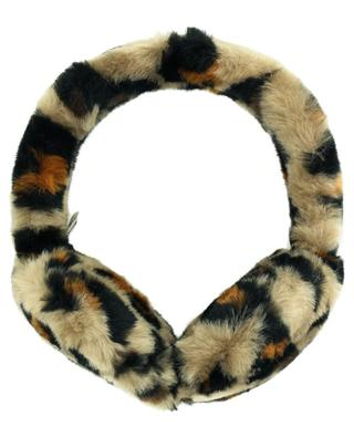 Faux fur leopard ear muffs UGG