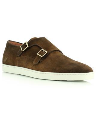 Suede double monk straps shoes SANTONI