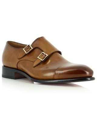 Monk strap shoes in smooth leather SANTONI