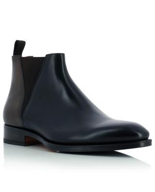 Semi-shiny smooth leather booties SANTONI