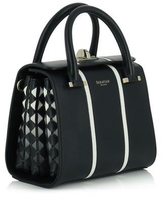 Handtasche aus Leder und Mosaico Mini Villa SERAPIAN MILANO