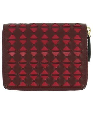 Brieftasche aus Leder Mosaico Mini SERAPIAN MILANO