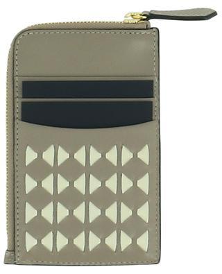 Kartenetui aus Leder mit Reissverschlusstasche Mosaico SERAPIAN MILANO