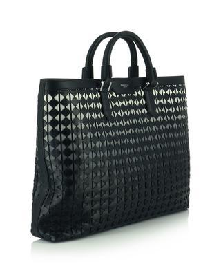 Horizontaler Shopper aus gewebtem Leder Mosaico SERAPIAN MILANO