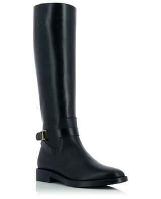 Flat leather bootsh with strap and T buckle TOD'S