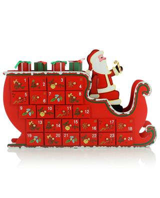 Santa Claus on sleigh fillable advent calender KAEMINGK