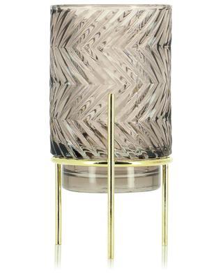 Windlicht aus texturiertem Glas mit Fuss KAEMINGK