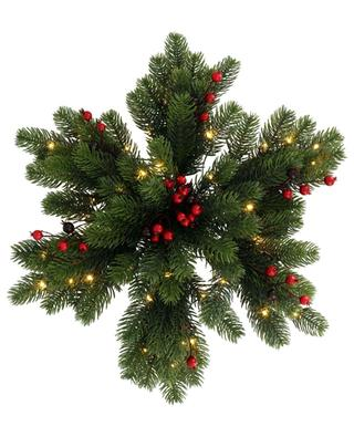 Chippewa Star fir and berry arrangement with lights KAEMINGK