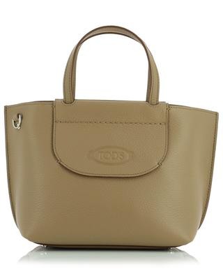 Shopping Mini grained leather tote bag TOD'S