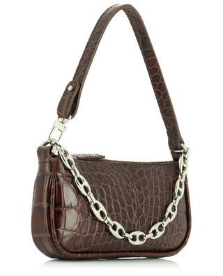 Handtasche aus Leder in Kroko-Optik Mini Rachel Nutella BY FAR