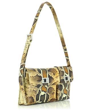 Billy Snake Print patent leather shoulder bag BY FAR