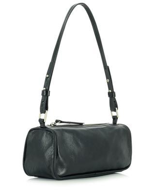 Eve Black creased leather shoulder bag BY FAR