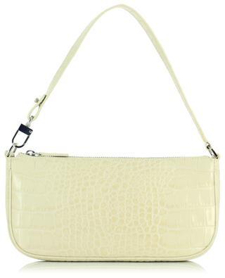 Handtasche aus Leder in Kroko-Optik Rachel Cream BY FAR