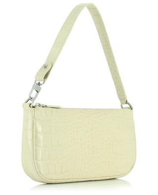 Rachel Cream croc embossed leather handbag BY FAR