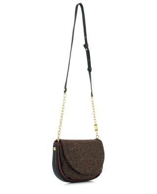 Diana small leather and bouclé fabric handbag GIANNI CHIARINI