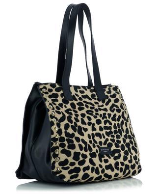 Dorotea leather leopard print tote bag GIANNI CHIARINI
