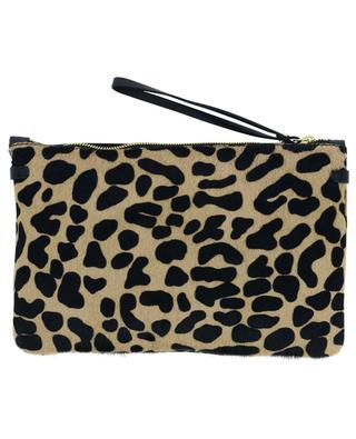 Pochette en cuir imprimé léopard effet poulain Hermy GIANNI CHIARINI