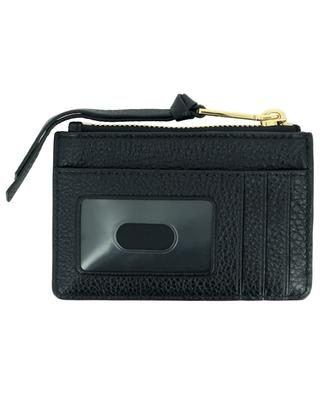 The Softshot grained leather card holder with zippered pocket MARC JACOBS