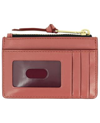 The Softshot card holder in quilted leather with zippered pocket MARC JACOBS