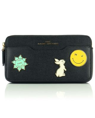 The Continental embellished chain wallet in textured leather MARC JACOBS